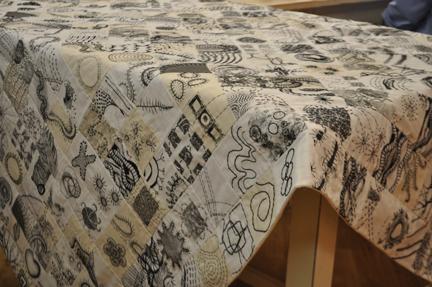 Black and white stitching
