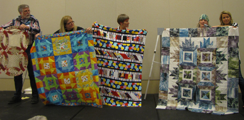 4 finished quilts