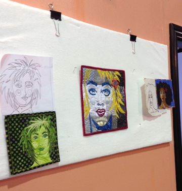 Laurie Ceesay's design wall