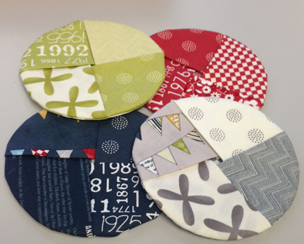 wine coasters with MODA fabrics