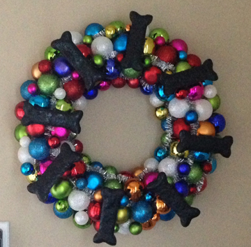dog wreath